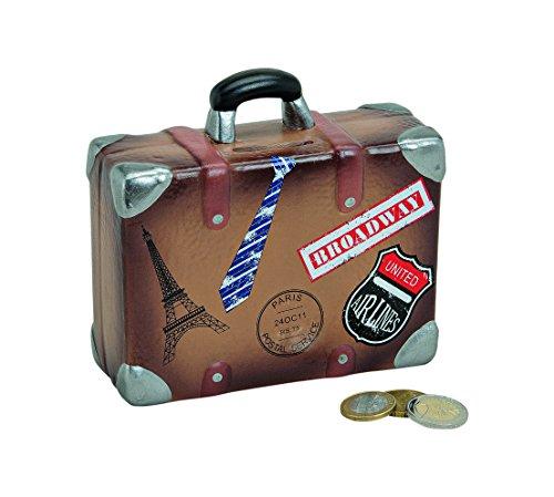 Unbekannt Precioso Vacaciones kasse, Viaje kasse Hucha, Hucha Maleta de Viaje, maletín con Pegatinas