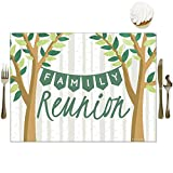 Big Dot of Happiness Family Tree Reunion - Party Table Decorations - Family Gathering Party Placemats - Set of 16