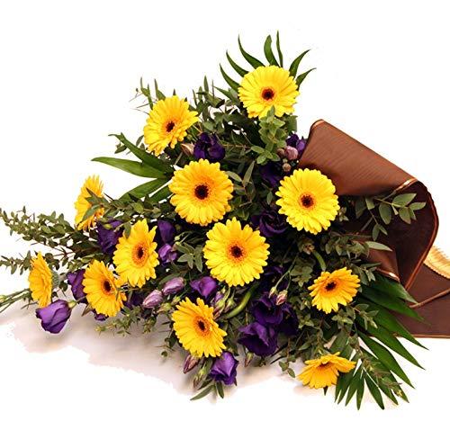 Flora Trans Blumen zur Beerdigung -Stille Vielfalt- Trauerstrauß zur Beerdigung mit Trauerflour