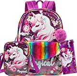 Unicorn Clear Backpack for Girls Heavy Duty PVC Transparent Backpacks,See Through 16'...
