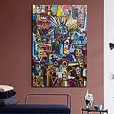 KWzEQ Cartel Vintage Graffiti Dibujo sobre Lienzo impresión Sala de Estar decoración del hogar Arte de Pared Moderno,Pintura sin Marco,80x120cm