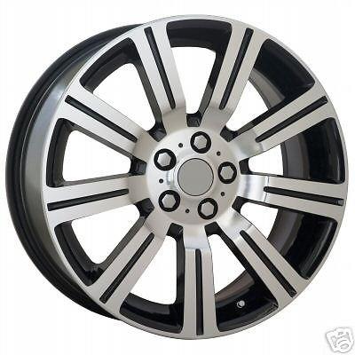 EuroActive LR3 Range Rover Replica 22 Java Black Stormer Wheel Set