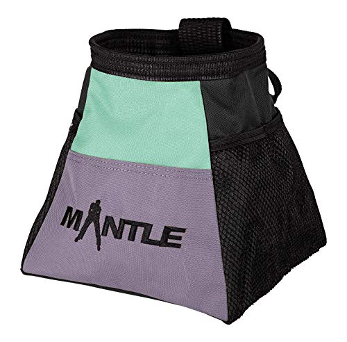 MANTLE climbing equipment Boulderbag Bina Mint/lila zum Bouldern Klettern Turnen Crossfit