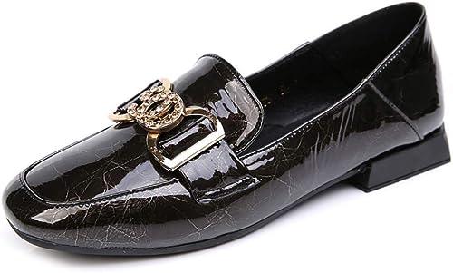 Chaussures Plates Pour Femmes Mocassins Pompe En En Cuir Verni Chaussures De Conduite Chaussures De Travail Décontracté Chaussures de pois  aucune hésitation! achetez maintenant!