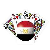 Egipto Bandera Nacional Fútbol Póker Jugando Tarjeta mágica Divertida Juego de mesa
