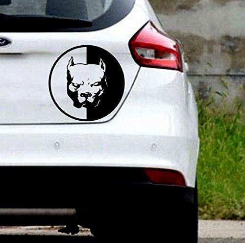 KUNFINE Adhesivo de vinilo para coche, diseño de Pitbull super héroe perro coche adhesivo adhesivo de vinilo adhesivo de decoración de coche DIY pegatinas Tuning partes (negro)