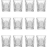 12x Vasos de Whisky, Tumbler, Vidrio, 35cl, 9cm de diámetro, Altura: 120mm