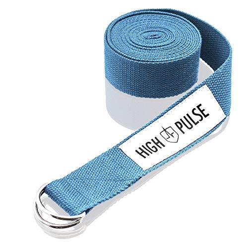 High Pulse Yoga Strap (183 x 3,8 cm) – Högkvalitativt yogabälte med spänne som ett praktiskt...