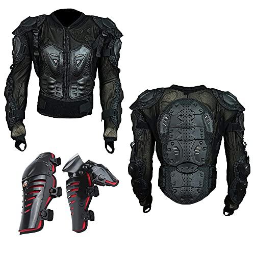 Chaqueta protectora para hombre de motocicleta, armadura para motocicleta, todoterreno, motocicleta, protector de pecho con protector de columna vertebral, para todoterreno, moto