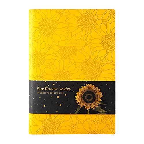 Festnight Cuaderno A5 PU Diario de viaje vintage Diario 8.5''x5.7 '' 128 hojas de papel forrado Cubierta suave para estudiantes de escuela Trabajos Artistas Dibujo Viajeros Persona de negocios Regalo