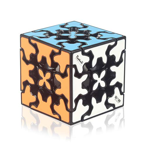 QIYI Gear Cube 3x3 with Three-Dimensional Gear Structure, Embedded Tile Design Magic Cube 3x3x3 Puzzles Toys (57mm), Suitable for Brain Development Puzzle Games for Children and Adults