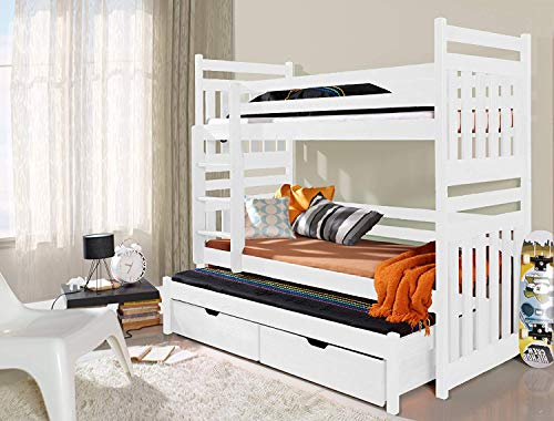 Ye Perfect Choice Bunk Bed SAMBOR Modern Children Triple High Bed Drawers UK Single Standard Size Shorter Size