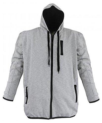 Moderne Sweatshirt Jacke von Lavecchia Kollektion Winter 2016 in Grau von 3XL - 8XL (6XL)