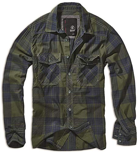 Brandit Check Shirt Olive-Blue 3XL
