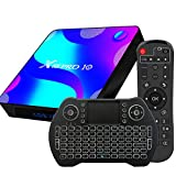 TV Box Android 10.0, 2GB 16GB Supports 4K 3D, Smart TV Box RK3318 Quad-Core 64bit Cortex-A53 Wi-FI 2.4G/5G LAN100M USB 3.0 BT 4.0