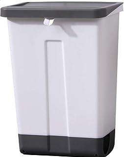 [エージョン]キッチンのゴミ箱 は家庭用 食器棚のドアをぶら 下げキッチン廃棄物 ふた付き大き なリビングル ームクリエ イティブ壁掛 けゴミ箱 (写真通り)
