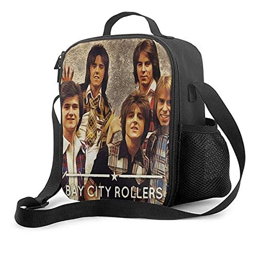 KEROTA Bay City Rollers - Bolsa de almuerzo para el almuerzo al aire libre, bolsa de almuerzo para la escuela, bolsa de almuerzo