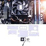 Carcasa Protectora acrílica Resistente a la corrosión del Ventilador de refrigeración para la Carcasa Raspberry Pi 4 con Ventilador