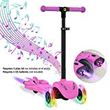 LGLE Roller Scooter Kinder Kids Scooter Ruote 3 Ruote Scooter con LED Ruote con rotelle...