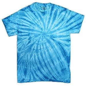 Dyenomite Apparel ダイナマイトアパレル Tシャツ 半袖 タイダイ 絞り染め 米国ブランド サイクロン 4色 S~XL T20CY (L, ターコイズ) [並行輸入品]