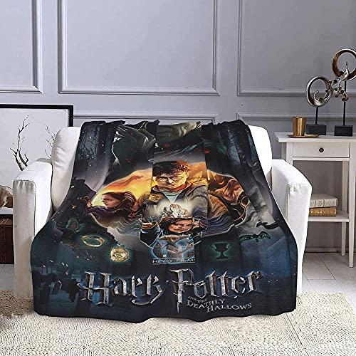 Harry_Potter Manta de 3D Impresión para sofá,Manta Sofa de Microfibra,Mantas Cama de Microforro Polar ultrasuave,Manta de Antidecoloración para Sofá Y Cama-150x200cm