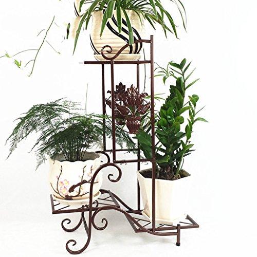 $Etagère d'exposition Porte-fleurs en fer, salon Pot de pot de fleurs Balcon Bonsai Frame Plant Display Stand ( Couleur : C , taille : 57*25*79CM )