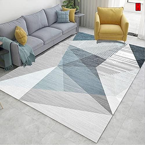 MENEFBS Alfombra de estilo moderno para sala de estar, suave y esponjosa alfombra de dormitorio en tamaño grande de 120 x 160