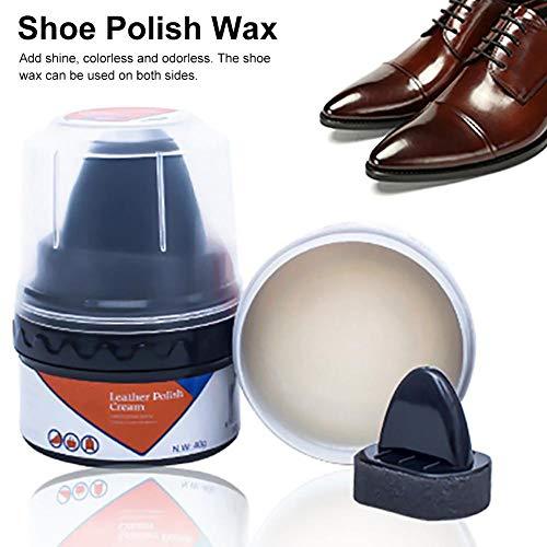 Cera abrillantadora de zapatos, crema profesional para calzado para limpieza de botas y calzado, nutre y refina