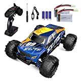 1/18 Scale Remote Control Car for Boys, 4WD High-Speed Racing RC Car with 2 Batteries, 2.4 GHz Off Road Monster Truck, All Terrains Electric Rock Crawler Toy Car, Hobby Car Toy Gift for Adult Kid Girl