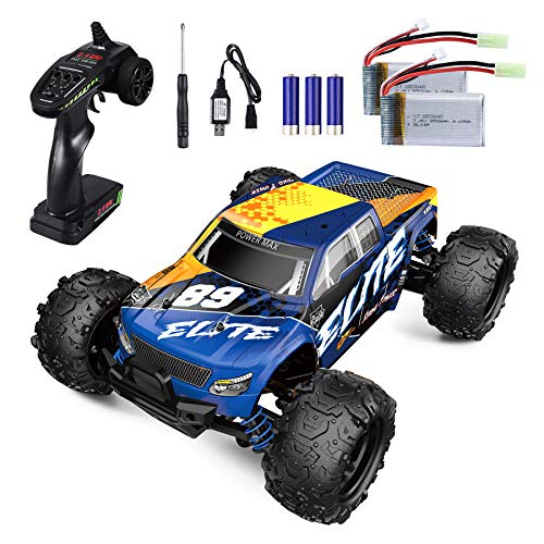 YEZI Remote Control Car,1:18 Scale RC Racing High Speed Car,4WD All Terrains Waterproof Drift Off-Road Vehicle,2.4GHz RC Road Monster Truck Included 2 Rechargeable Batteries,Toy for Boys Teens Adults