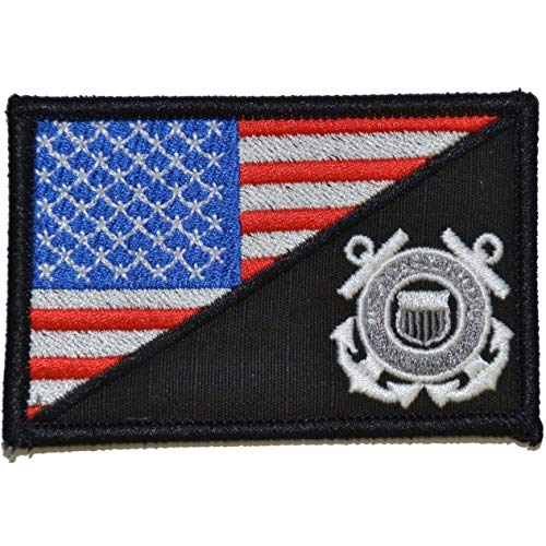 USCG USA Flag - 2.25x3.5 Patch - Full Color