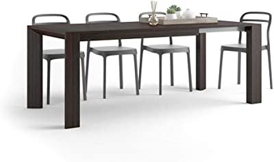 MOBILI FIVER, Table Extensible Cuisine, Giuditta, Wengé, 140 x 90 x 75 cm, Mélaminé, Made in Italy