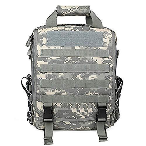 WENZHEN Zaino Termico frigo,Zaino tattico Militare Camouflage Laptop Messenger Borsa Zaino Multifunzione Cartella 1000D Borsa a Tracolla Esterna Impermeabile in Nylon @ 26 * 7 * 38cm_Blu