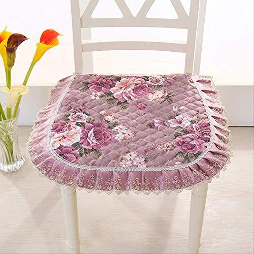 yywl Cojín de asiento de estilo europeo para silla de comedor con bordado de encaje para verano
