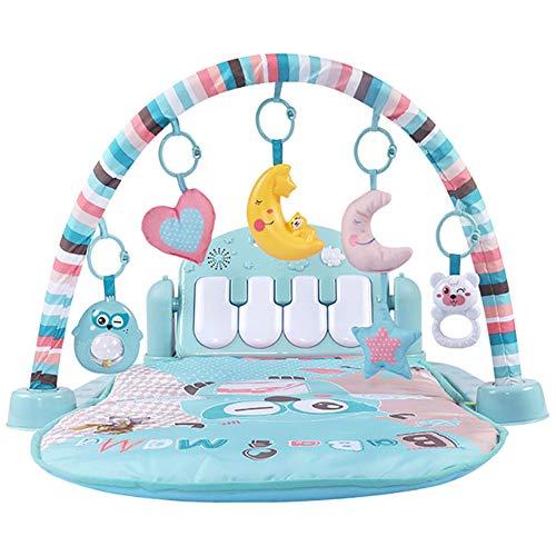 WEHOLY Baby Gyms und Aktivitätsspielmatte mit Musik und Lichtern,Elektronisches Lernspielzeug für Kleinkinder, Kleinkinder, Neugeborene,Mädchen und Jungen im Alter von 1 bis 36 Monaten