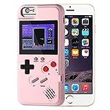 AOLVO Game Hülle Für iPhone, Retro 3D Schutzhülle Case Mit 36 Kleinen Spielen, Vollfarbdisplay, Stoßfest Videospiel Hülle Für iPhone X/XS/MAX/XR, iPhone 8/8 Plus, iPhone 7/7 Plus, iPhone 6/6Plus