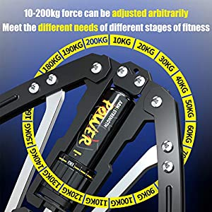 necacesTwister Arm Exerciser,Hydraulic PowerArm Muscle Training Machine, Adjustable 22-440lbsHome Shoulder Muscle Training Fitness Equipment, Arm Exercise Strengthener