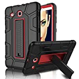 Galaxy Tab E 9.6 Case, Elegant Choise Built in Kickstand Heavy Duty Shockproof Rugged Full Body Protective Case Cover for Samsung Galaxy Tab E 9.6 inch/SM-T560 / T561 / T567 (Red/Black)