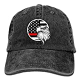 WH-CLA Hat Bandera Americana Águila Thin Red Line Sombrero De Papá Gorra De Malla Gorra De Béisbol Ajustable Hombres Sombrero De Papá Pesca De Compras Gorra De Béisbol Sombreros De Camion