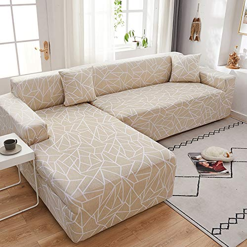 Funda de sofá en Forma de L Fundas elásticas Fundas de sofá elásticas para Sala de Estar Funda de sofá seccional Chaise Longue A18 1 Plaza
