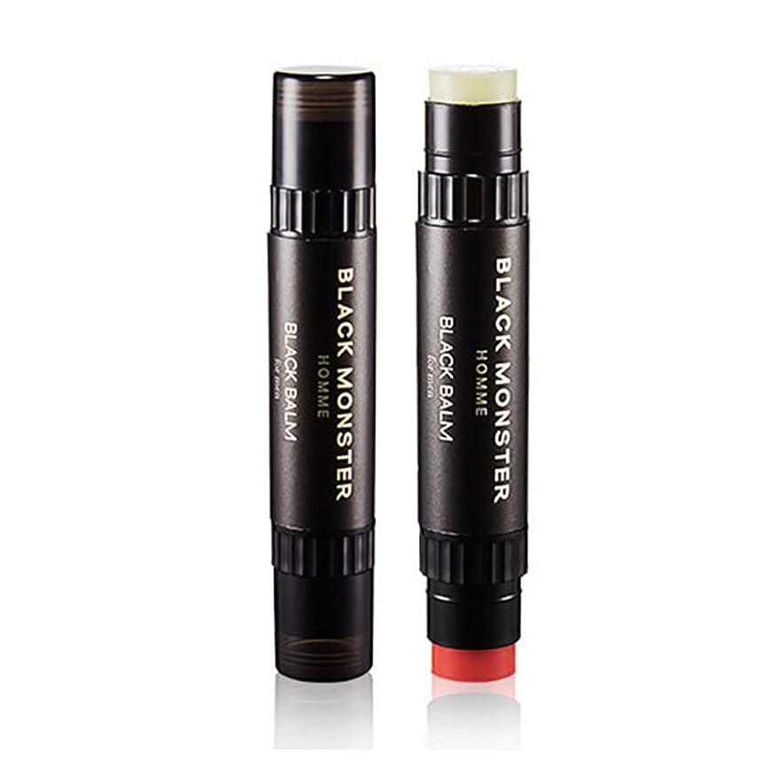 動員する爪間欠ブラックモンスターオムブラックバムリップバム4.8g、チェリーの香りケモマイルの香りメンズコスメ、Black Monster Homme Black Balm Lip Balm 4.8g Cherry Scent Chamomile Scent Men'Cosmetics [並行輸入品]