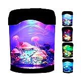 Gyj&mmm Lámpara de Medusas de Cambio de Color, Lámpara Artificial Mini Aquarium, Nietos, para el Hotel en el hogar