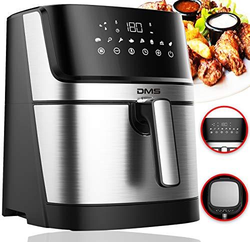 DMS XXL 6 Liter Heißluftfritteuse | Backofen | Heißluftgrill | Cooker | fettfrei und ohne Öl | inklusive 8 Programmen und digitalem Touch Display | 1800 Watt
