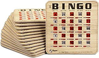 Regal Games Extra Thick Stitched Woodgrain Quick Clear Rapid Reset Shutter Bingo Cards with Big Tabs