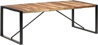 vidaXL Bois Solide Table de Salle à Manger Table à Dîner Table de Cuisine Table de Repas Meuble de Cuisine Maison Intérieu...
