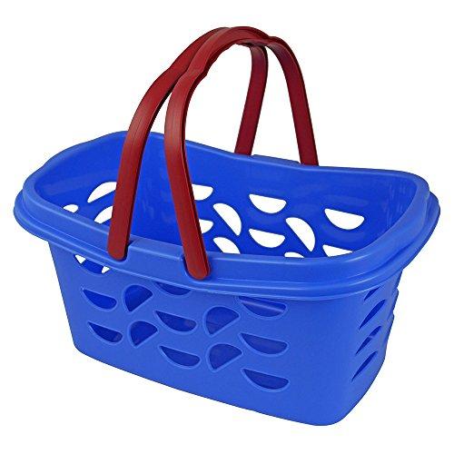 Gies Einkaufskorb Lilly mit 2 klappbaren Henkeln, Plastik, blau, 38 x 21.5 x 17 cm
