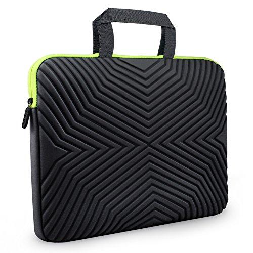 Tizum Laptop Bag Sleeve Case Cover for 13-Inch/ 14-Inch Laptop MacBook | Designer Neoprene (Black)