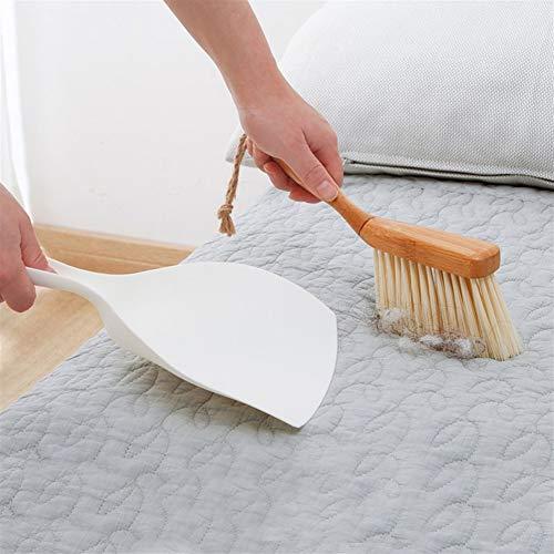 Starry sky Bamboe Handvat Mini Bezem Schop Set Huishoudelijke Kunststof Reinigingsborstel Kleine Bezem Stofschop