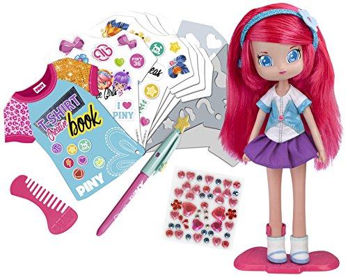 PINY Muñeca Michelle con libro de diseño (Famosa 700013447)