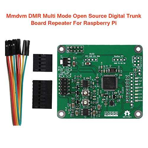 Sdkmah9 Trunk Board Repeater Mmdvm DMR Digital Accessories Electrical Module Open Source Multi Mode Multipurpose Voice Modem Replacement PCB Green Plate for Raspberry Pi